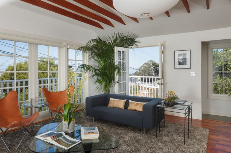 Living Room with View Deck